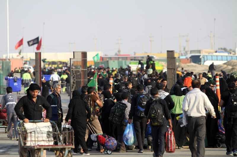 یک میلیون و ۴۵۱ هزار زائر از مرز مهران تردد کردند