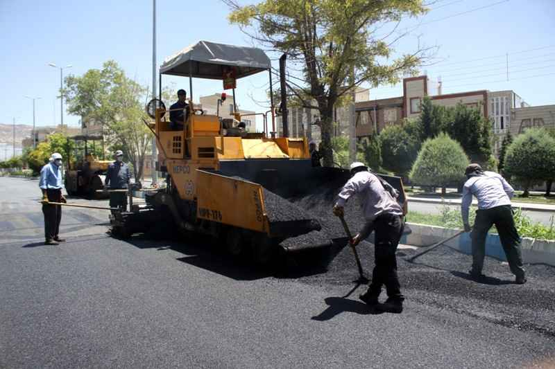 ۱۸ هزار مترمربع از معابر عمومی مهران آسفالت شد